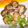 Баклажаны в томатном соке с грецкими орехами
