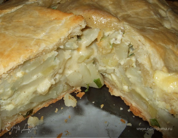 Слоеный картофельный пирог
