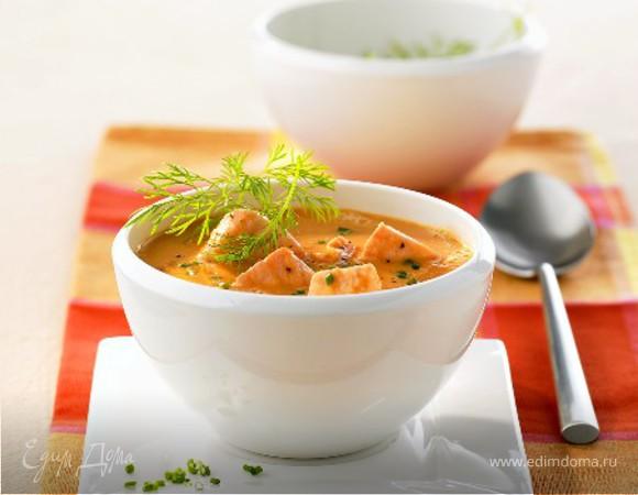 Калифорнийский суп с семгой