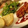 Фуа-гра под ягодным соусом с зеленым салатом