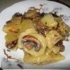 Картошка с грибами в чесночном соусе
