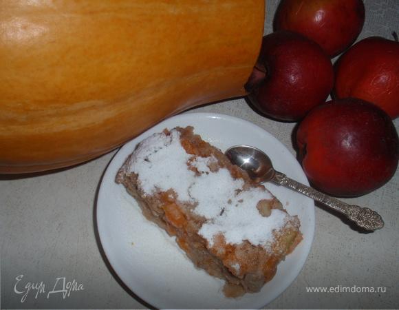 Пудинг тыквенный с яблоками