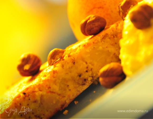 Творожный десерт с грушами