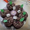 Шоколадные пирожные с орехами макадамия