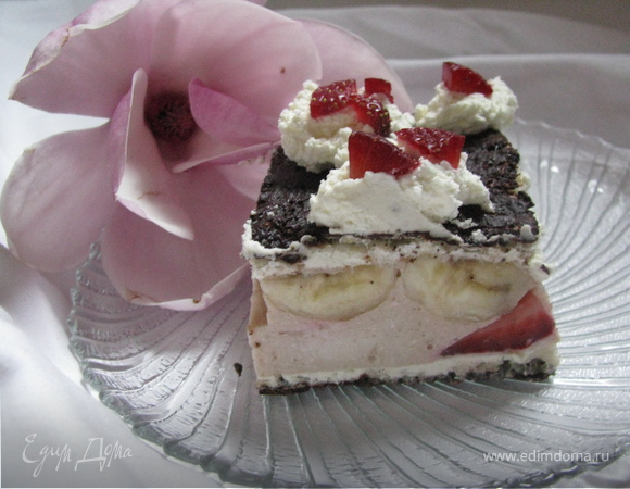 """Мини-торт """"Клубничное счастье"""""""