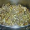 Картошка тушеная с мясом и квашеной капустой