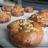 Булочки ржаные с курагой и семенами подсолнуха (заварные, без дрожжевые)