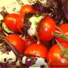 Боккончини и помидоры на вертеле