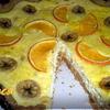 Ржаной тарт с апельсином и бананом