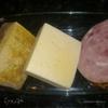 Плотный и сытный ужин для моих мужчин (Паста под соусом с овощами и ветчиной,Куриное мясо с грибами и помидором)