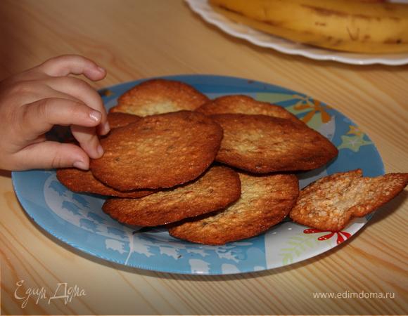 Хрустящее орехово-овсяное печенье