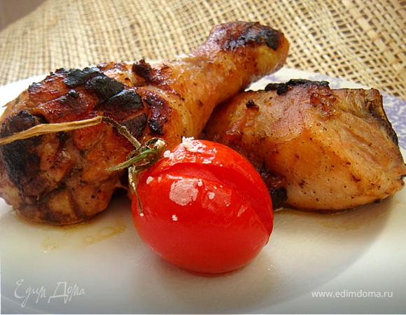 Куриные голяшечки и бедрышки в горчичном маринаде