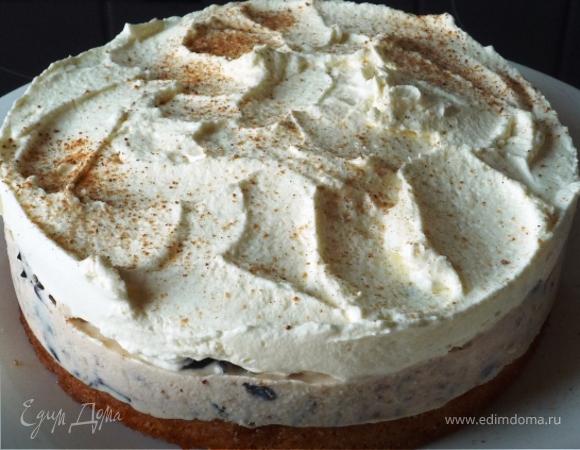 Воздушный чернично-сливочный десерт