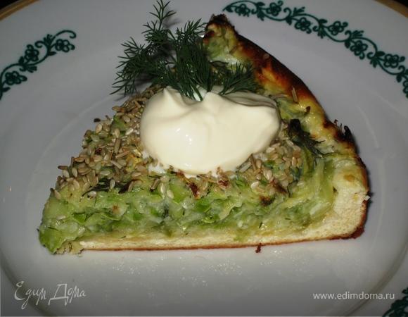 Творожный тарт с кабачковой начинкой