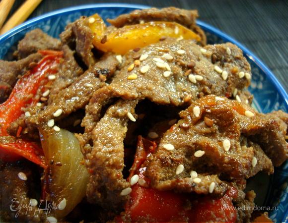 Пулькоги. Мясо в грушевом соусе. Рецепт №5. Корея
