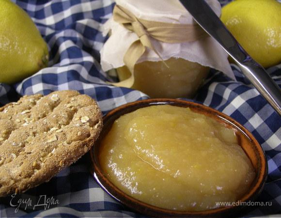 Лимонный джем с яблоками и Куантро