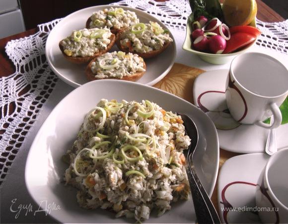 """Салат из скумбрии """" Завтрак для двоих"""""""