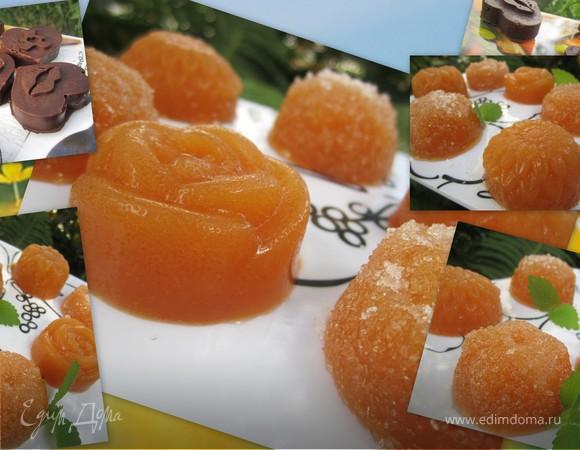 Персиковый мармелад и шоколадно-мармеладные конфеты (на агар-агаре)