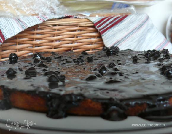 Черно-смородиновая коврижка под шоколадом