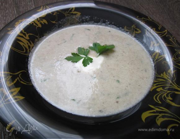 Суп-пюре с цукини и грибами
