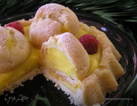 Цитрусовый тарт с профитролями