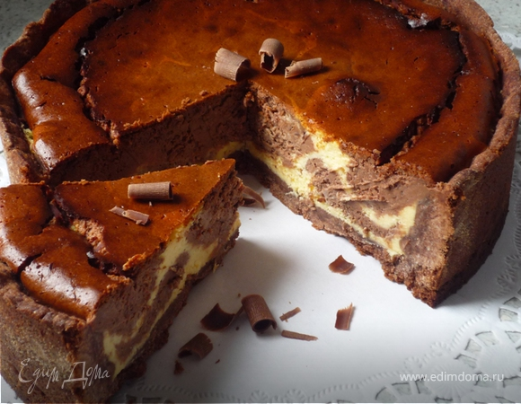Мраморный шоколадный чизкейк