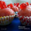 Розовые марципановые конфеты