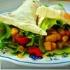 Почти мексиканская закуска(теплый овощной салат в лаваше)