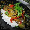Цукини с грибами и рисом