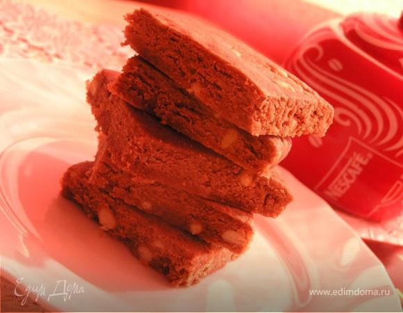 Шортбред с шоколадом и кедровыми орешками