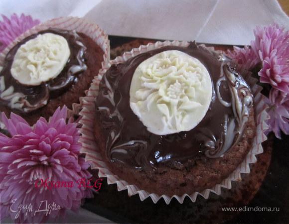 Шоколадно- банановые маффины.