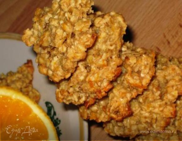 Овсяное печенье с медом и апельсином