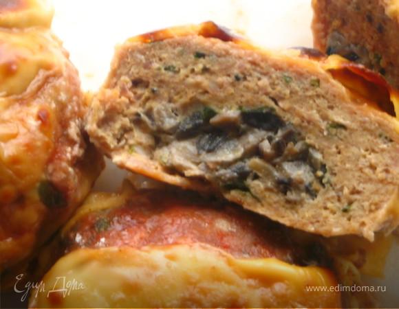 Свекольно- мясные тефтели с грибной начинкой