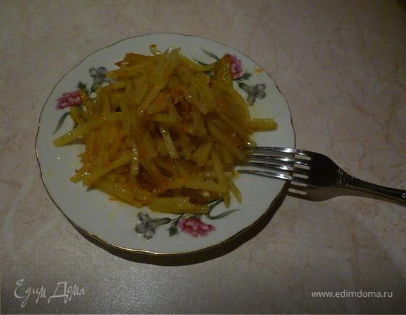 Очень ароматный и вкусный жаренный картофель