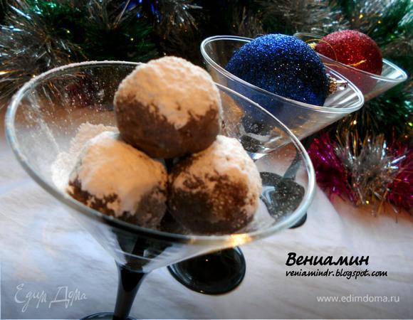 Клюквенно-мятные шоколадные конфеты