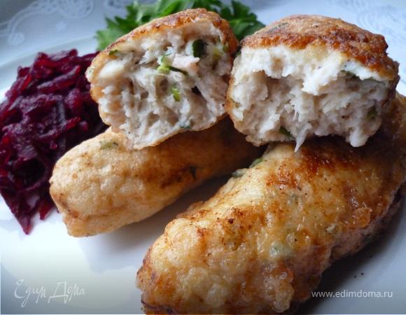 Колбаски куриные.