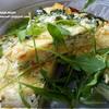 Фриттата с картофелем, шпинатом и творожным сыром