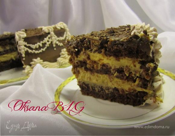 """Торт """"Шоколадно-карамельный"""""""