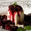 Панна котта с ванильными ягодами