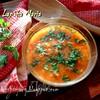 Ароматный томатный суп с чечевицей (2 варианта, постный и нет)