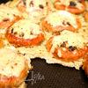 Бублики с грибами под сыром
