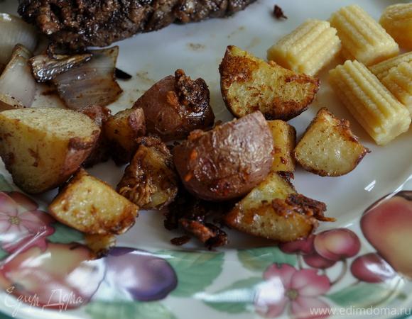 Жареный золотой картофель