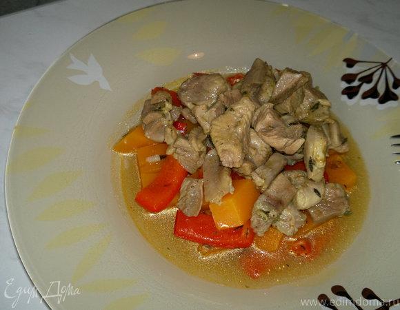 Овощное рагу с бедром индейки