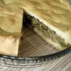 Пирог c капустой, грибами и зеленым луком