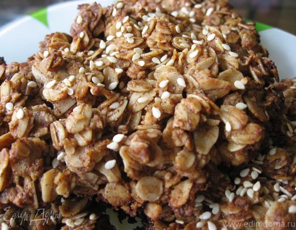 Вкусное овсяное печенье без муки и яиц