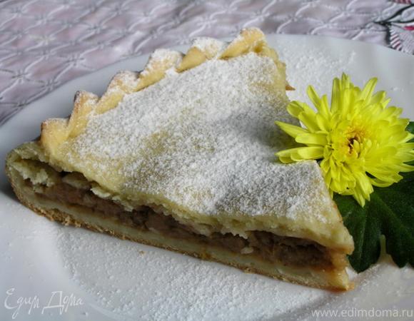 Грушево-яблочный пирог с корицей