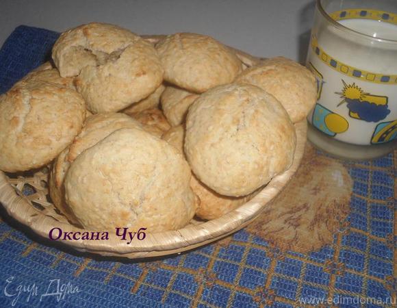 Овсяно-кунжутные печеньки или полезный полдник