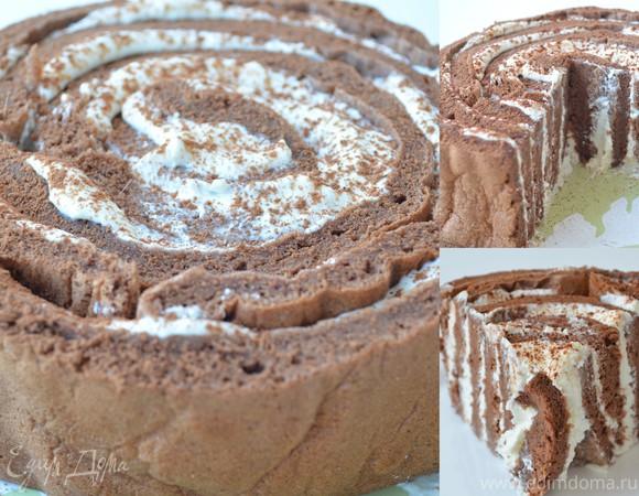 """Торт """"Пенек"""" с легким творожно-ванильным кремом"""