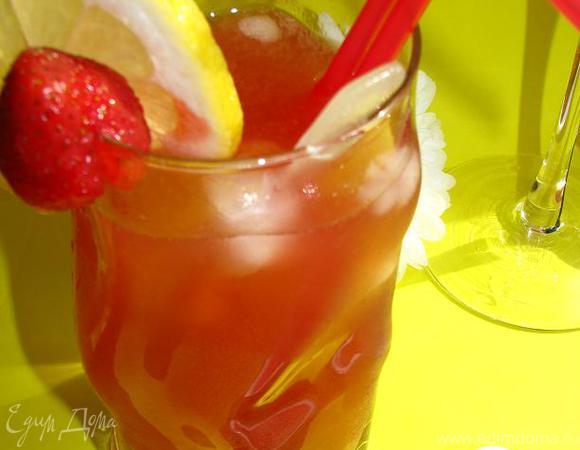 Имбирно-клубничный лимонад для всех-всех