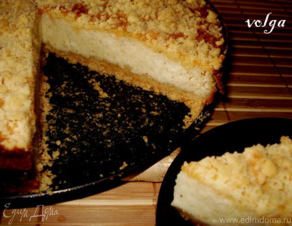 Большая ватрушка или пирог с творогом